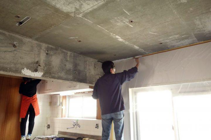 【壁・天井塗装】北部屋・南部屋・玄関・洗面所の塗装。